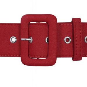 JADE PLAIN BELT IN RED BY COLLECTIF AT ILL-GOTTEN GAINS