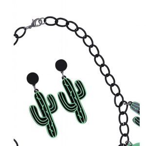CACTUS PARTY NECKLACE SET BY COLLECTIF AT ILL-GOTTEN GAINS