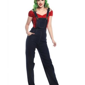 COLLECTIF MAINLINE PIPPA DENIM DUNGAREES AT ILL-GOTTEN GAINS