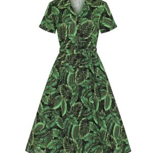 CATERINA TROPICS SWING DRESS BY COLLECTIF MAINLINE AT ILL-GOTTEN GAINS