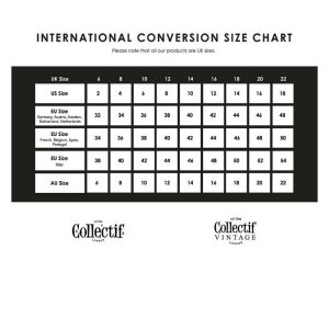 Collectif Size Covnversion Chart at Ill-Gotten Gains