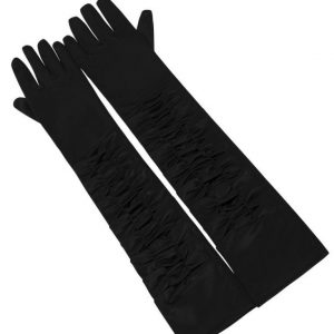 ELLIE SATIN ELBOW GLOVES BY COLLECTIF AT ILL-GOTTEN GAINS